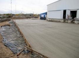 Безопасные бетонные полы с топпингом