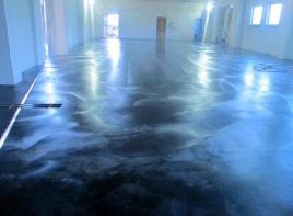 Износостойкие бетонные полы с топпингом