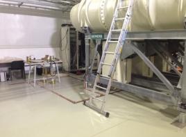 Монтаж промышленных наливных лестниц
